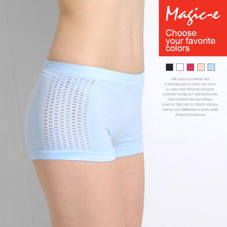 [ 全店5折 ] 洞洞涼爽平口褲*無縫3D超彈力*舒適透氣貼身零著感-魔法e裳B006