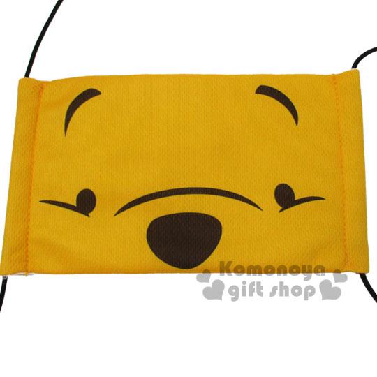 〔小禮堂〕迪士尼 維尼 成人平面口罩《黃.大臉》感冒對策用品