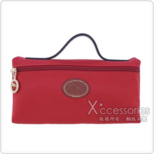 LONGCHAMP Le Pliage 摺疊包系列化妝包(中/紅)