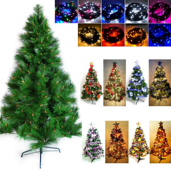 台灣製造 6呎 / 6尺(180cm)特級綠松針葉聖誕樹 (含飾品組)+100燈LED燈2串(附控制器跳機)YS-GPT06301