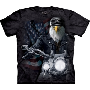 『摩達客』美國進口【The Mountain】自然純棉系列 老鷹騎士 設計T恤