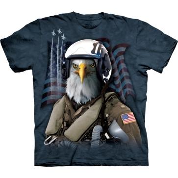 『摩達客』[ 預購 ]美國進口【The Mountain】Classic自然純棉系列 老鷹空軍 藍色設計T恤