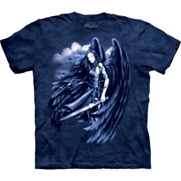 『摩達客』[ 預購 ]美國進口【The Mountain】Classic自然純棉系列 墜落天使 藍色設計T恤