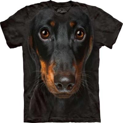 『摩達客』[ 預購 ](大尺碼3XL)美國進口【The Mountain】Classic自然純棉系列 長毛臘腸犬臉 設計T恤