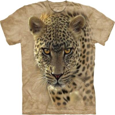 『摩達客』(大尺碼3XL)美國進口【The Mountain】自然純棉系列 覓食豹 T恤