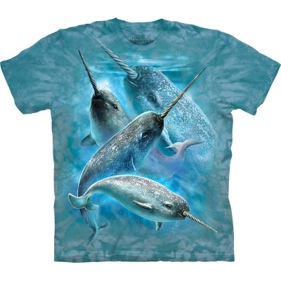 『摩達客』[ 預購 ]美國進口【The Mountain】Classic自然純棉系列 獨角鯨設計T恤