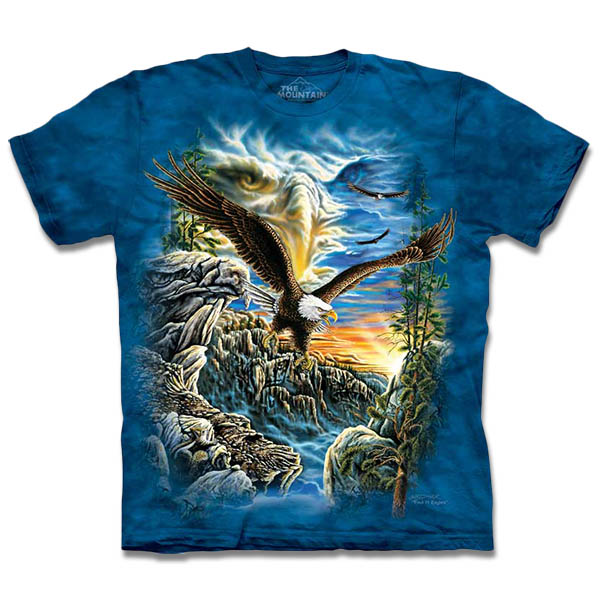 『摩達客』[ 預購 ](大尺碼3XL) 美國進口【The Mountain】自然純棉系列 尋十一鷹群 T恤
