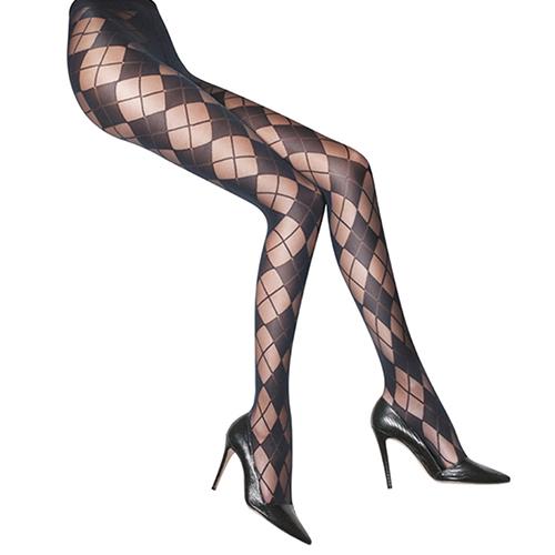 『摩達客』英國進口義製Pretty Polly時尚ALICE OLIVIA聯名學院風格紋彈性褲襪絲襪(限量款)