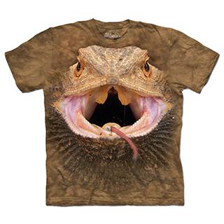 『摩達客』(預購) 美國進口【The Mountain】自然純棉系列  鬃獅蜥臉 設計T恤