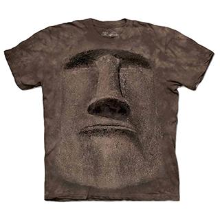 『摩達客』美國進口【The Mountain】自然純棉系列  復活島巨石像  設計T恤