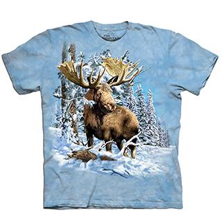 『摩達客』[預購] 美國進口【The Mountain】自然純棉系列  尋七駝鹿  設計T恤