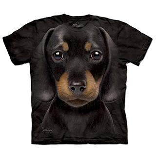 『摩達客』 美國進口【The Mountain】自然純棉系列 小長毛臘腸犬 設計T恤