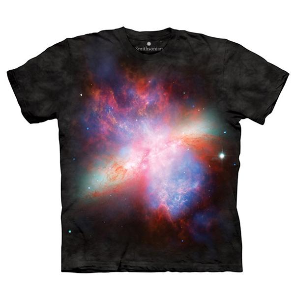 【摩達客】(預購)美國進口The Mountain Smithsonian系列星爆星系M82 純棉環保短袖T恤