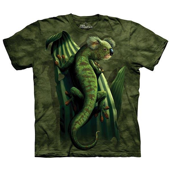 【摩達客】(預購)美國進口The Mountain 變色無尾熊 純棉環保短袖T恤