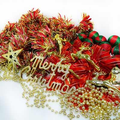 聖誕裝飾配件包組合~紅金色系 (3尺(90cm)樹適用)(不含聖誕樹)(不含燈) YS-DS03001