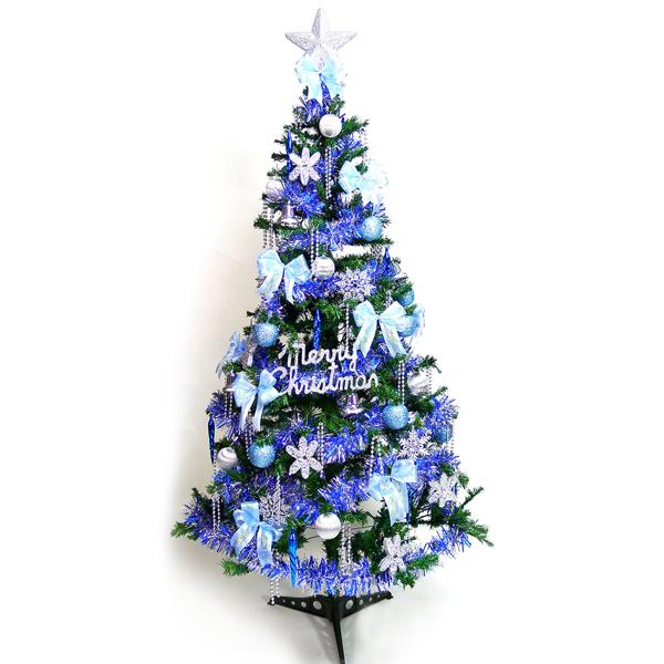 超級幸福12尺/12呎(360cm)一般型裝飾綠聖誕樹 (+藍銀色系配件組)(不含燈)YS-GTC12004
