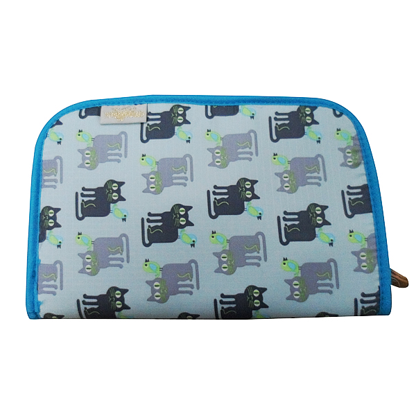 [新款上市]gladee貓咪輕便萬用卡片收納包/護照包(淺綠)