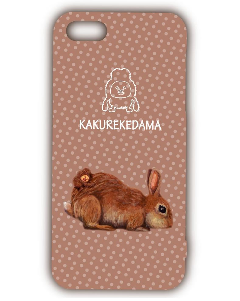 【Kobito Dukan醜比頭】毛絨絨粉屁桃 iPhone5 手機殼