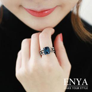復古印象藍寶石戒指 Enya恩雅(正韓飾品)【RIAW6】