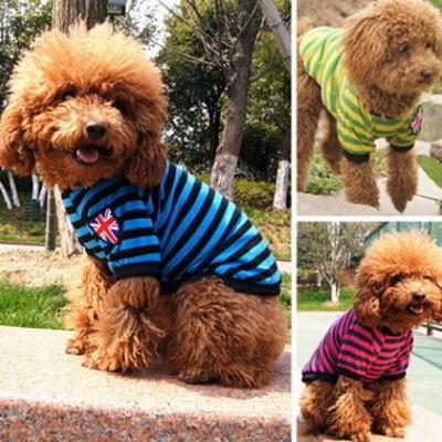 寵物衣可愛狗狗衣服-春夏流行條紋國旗寵物用品2色73ih12【獨家進口】【米蘭精品】
