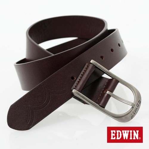【9折優惠↘】EDWIN 長型帶頭皮帶-男款 深咖啡