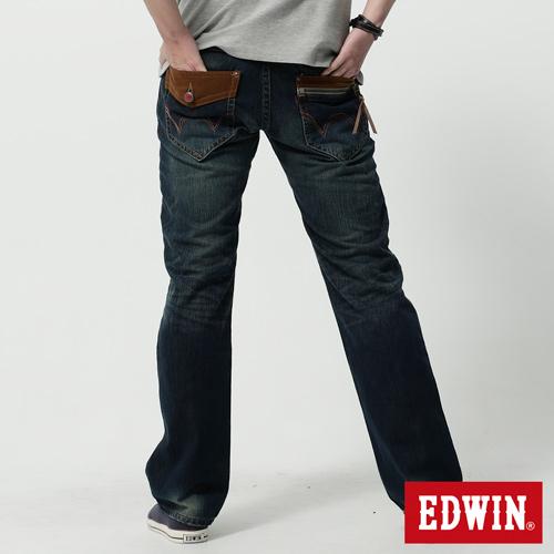 【SUPER SALE。熱銷丹寧888↘】EDWIN 503B.T麂皮袋蓋直筒褲-男款 水洗復古藍【結帳輸入SS_20161207→現折100元】