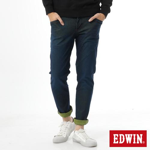 【零碼迦績990↘】EDWIN JERSEYS剪接立體迦績褲-男款 中古藍