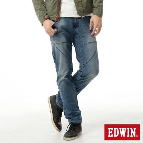 【零碼迦績990↘】EDWIN JERSEYS剪接立體迦績褲-男款 石洗藍