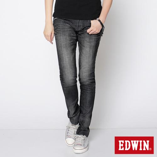 【SUPER SALE。熱銷丹寧888↘】EDWIN Miss 503 BLUE TRIP袋蓋直筒牛仔褲-女款 刷色灰【結帳輸入SS_20161207→現折100元】