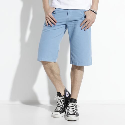 【790元優惠↘】EDWIN 503 BLUE TRIP 棉質5分短褲-男款 藍色