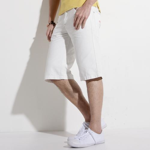 【790元優惠↘】EDWIN 503 BLUE TRIP 棉質5分短褲-男款 白色