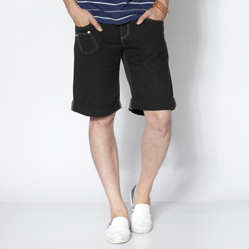 【790元優惠↘】EDWIN 503 BLUE TRIP 棉質5分短褲-男款 黑灰