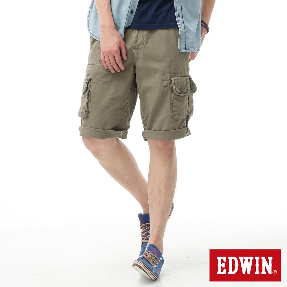 【790元優惠↘】EDWIN BLUE TRIP 口袋短褲-男款 橄欖綠