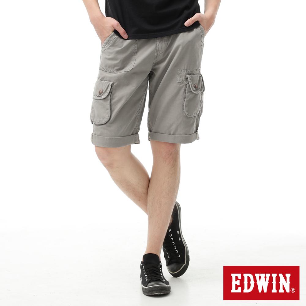 【790元優惠↘】EDWIN BLUE TRIP 口袋短褲-男款 苔綠