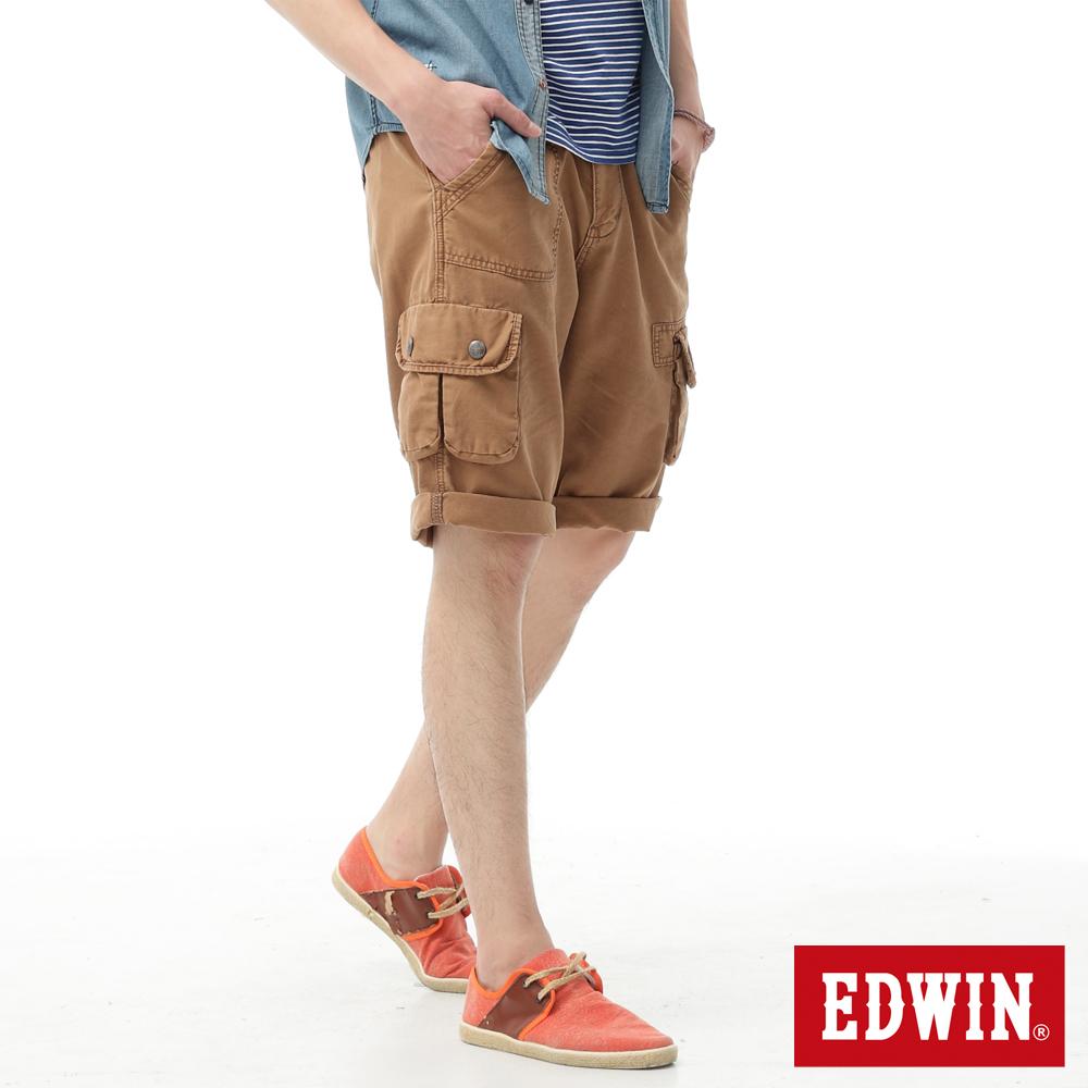 【790元優惠↘】【小碼】EDWIN BLUE TRIP 口袋短褲-男款 灰卡其