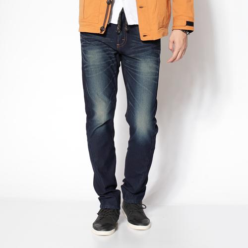 【零碼迦績990↘】【全新進化3D剪裁】EDWIN JERSEYS針織迦績3D褲-男款 原藍磨