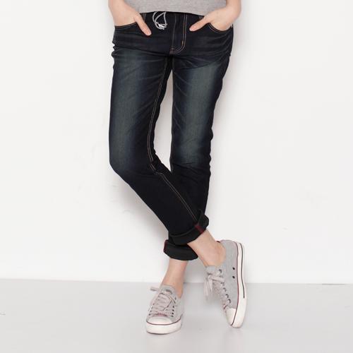 【SUPER SALE。零碼迦績990↘】EDWIN JERSEYS 迦績褲-女款 原藍磨【結帳輸入SS_20161209→現折100元】