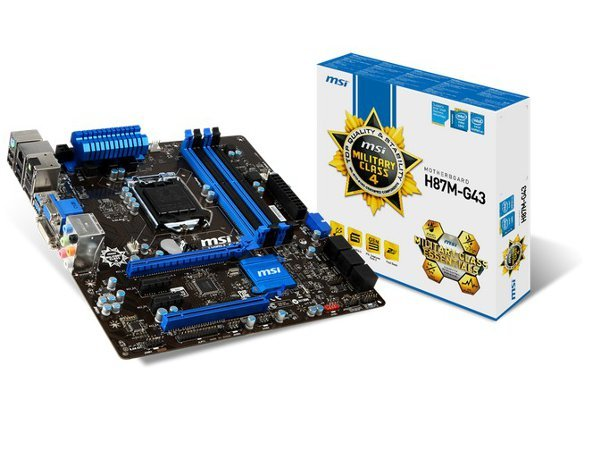 「YEs 3C」全新 MSI 微星 H87M-G43 主機板 Intel H87 1150 四顯示介面 microATX 免運 yes3c 8ne