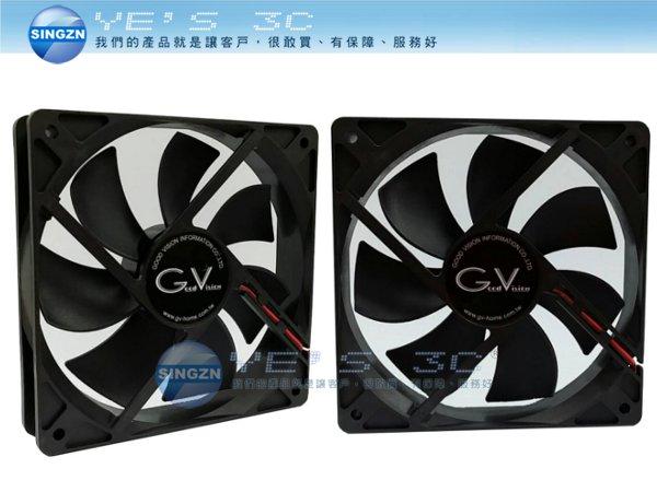 「YEs 3C」全新 aibo 鈞嵐 12CM 12公分 電腦系統冷卻風扇 大4P 系統風扇 OO-12*12-1 黑色 有發票 免運 yes3c