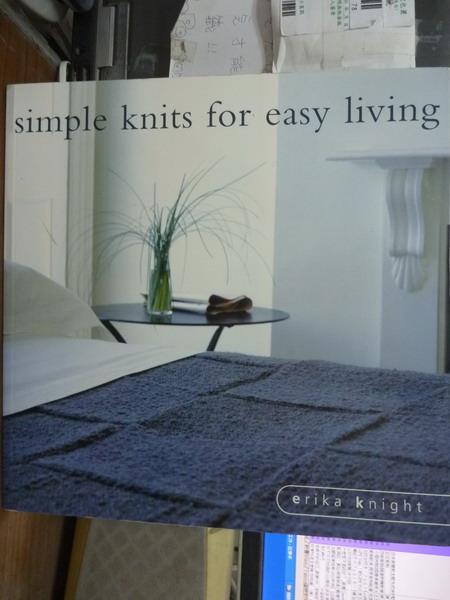 【書寶二手書T8/美工_QGS】Simple Knits for Easy Living