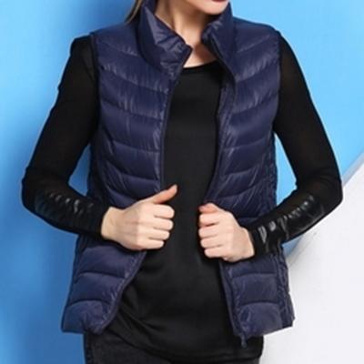 輕羽絨背心 外套-短款韓版修身保暖女背心10色72x2【獨家進口】【米蘭精品】