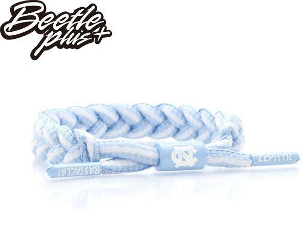 BEETLE PLUS 西門町經銷 全新 美國品牌 RASTACLAT SHOELACE BRACELET 北卡藍 水藍白 飛人 喬丹 JORDAN 線條 基本 鞋帶 編織 手環 RA-68