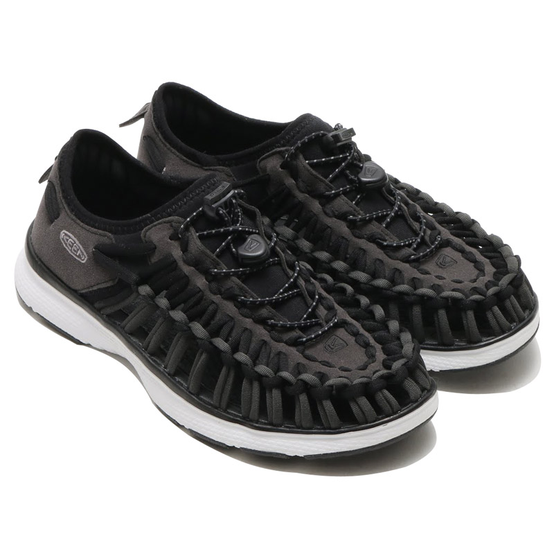 ├登山樂┤美國KEEN Uneek O2 女款拉繩編織鞋 黑/白 #1015575