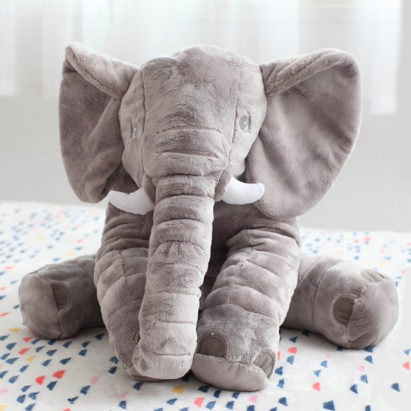 SISI【G6002】雅特斯托大象寶寶陪睡抱枕安撫枕娃娃毛絨玩偶嬰兒靠枕辦公室午睡枕頭