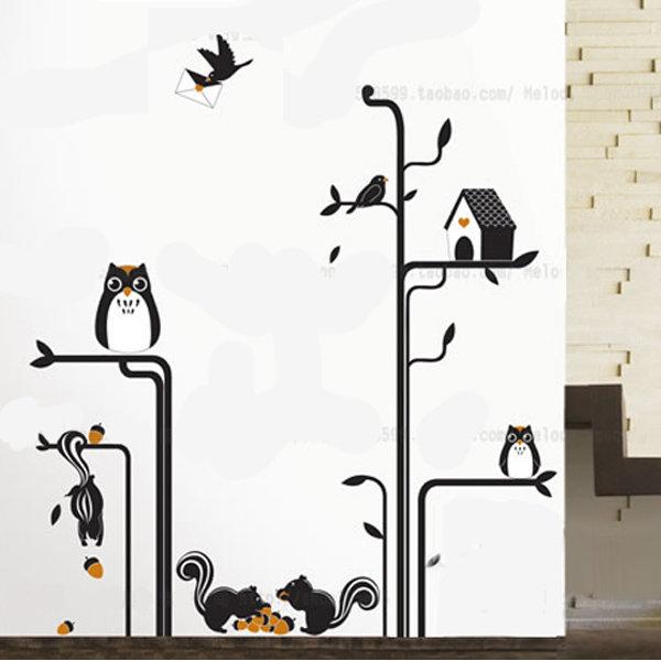 BO雜貨【YV4217】創意可移動壁貼 牆貼 背景貼 時尚組合壁貼 童話的夜