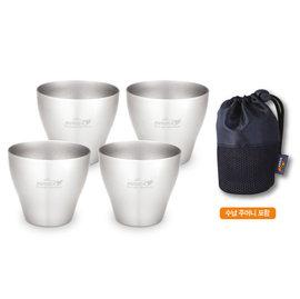 【鄉野情戶外用品店】 KOVEA |韓國|  SC304不鏽鋼燒酒杯組-4入/KS8BT0201