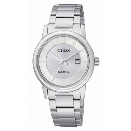 CITIZEN 簡約純白光動能女錶 EW1560-57A