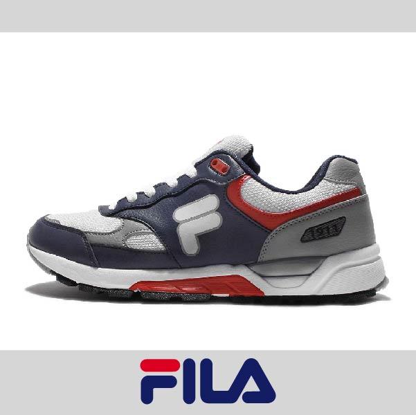 萬特戶外運動 FILA 1-J313Q-431 男復古慢跑鞋 透氣 舒適 防臭 吸震 抗磨損 藍白紅色