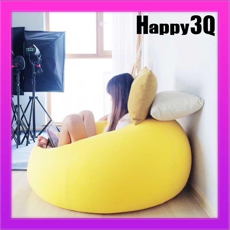 雙人沙發單人加大舒適可拆洗彈力懶人沙發懶骨頭豆袋-紫/藍/咖/黃/米【AAA0934】