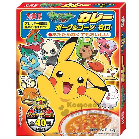 〔小禮堂〕日本原產 丸美屋 皮卡丘 豬肉玉米咖哩調理包《160g.盒裝》